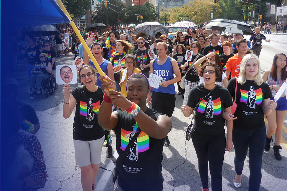 LGBT Life at Emory. The Emory community and Office of LGBT Life marching in the Atlanta Pride Parade! (photo: lgbt.emory.edu )
