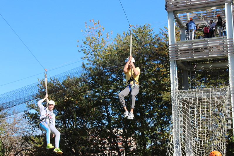 Zip Lining with Team Building