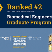 Biomedical Engineering Ranked #2 in U.S. News Graduate Rankings for 2019