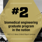 New Graduate Program Rankings: Coulter BME is No. 2 in the Nation