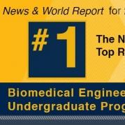 Biomedical Engineering Again Ranked No.1 in U.S. News Undergraduate Rankings