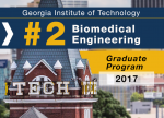 Biomedical Engineering Ranked #2 in U.S. News Graduate Rankings for 2017