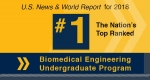 Biomedical Engineering Again Ranked No.1 in U.S. News Undergraduate Rankings