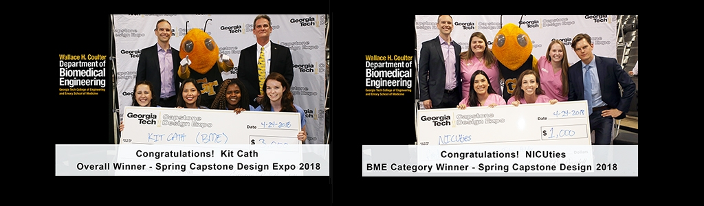 BME Capstone Winning Teams - Spring-2018
